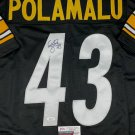 Troy Polamalu Autographed Signed Pittsburgh Steelers Jersey JSA