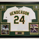 Rickey Henderson Autographed Signed Framed Oakland A's Jersey PSA