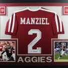 Johnny Manziel Autographed Signed Framed Texas A&M Aggies Jersey BECKETT