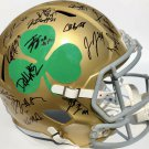 2018 Notre Dame Team (Ian Book +39) Autographed Signed Fighting Irish FS Helmet PSA