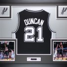 TIm Duncan Autographed Signed Framed San Antonio Spurs Jersey PAAS