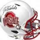 Justin Fields Autographed Signed Ohio State Buckeyes FS Helmet PSA