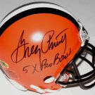 Greg Pruitt Autographed Signed Cleveland Browns Mini Helmet MAB HOLO