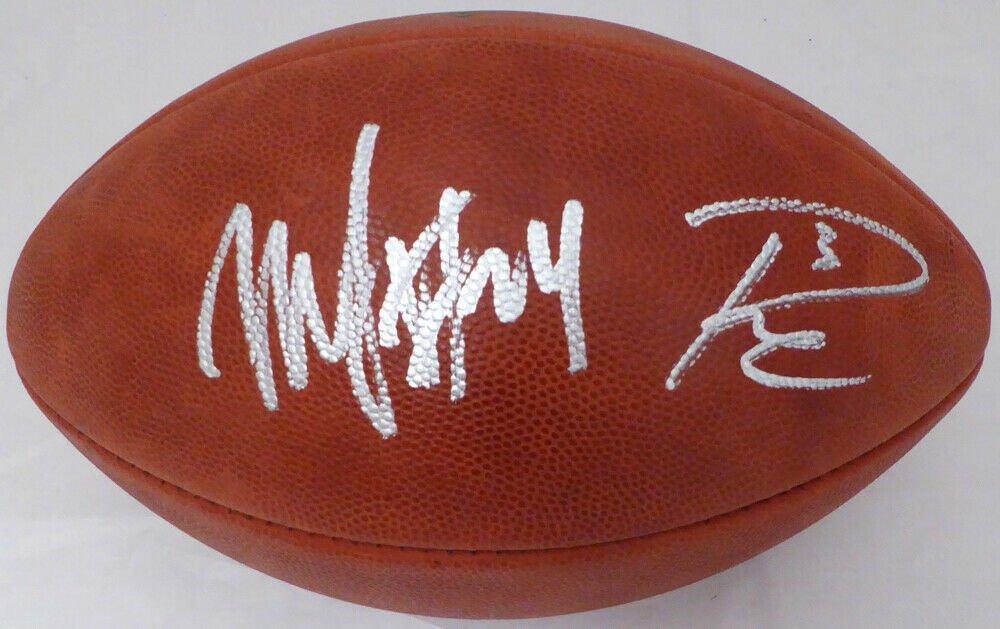 Russell Wilson & Marshawn Lynch Dual Signed Autographed Seattle Seahawks Football RW ML COA