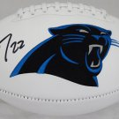 Christian McCaffrey Autographed Signed Carolina Panthers Logo Football BECKETT