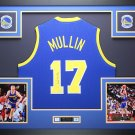 Chris Mullin Autographed Signed Framed Golden State Warriors Jersey BECKETT