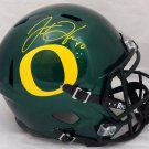 Justin Herbert Autographed Signed Oregon Ducks Speed FS Helmet BECKETT