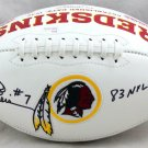 Joe Theismann Autographed Signed Washington Redskins Logo Football JSA