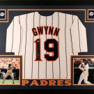 Tony Gwynn Autographed Signed Framed San Diego Padres Jersey PSA