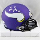 Justin Jefferson Autographed Signed Minnesota Vikings Mini Helmet BECKETT