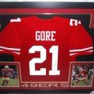 Frank Gore Autographed Signed Framed San Francisco 49ers Jersey JSA