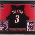 Allen Iverson Autographed Signed Framed Philadelphia 76ers Jersey BECKETT