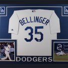 Cody Bellinger Autographed Signed Framed Los Angeles Dodgers Majestic Jersey FANATICS