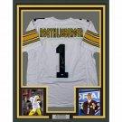 Ben Roethlisberger Autographed Signed Framed Pittsburgh Steelers Jersey STEINER