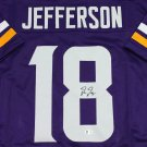 Justin Jefferson Autographed Signed Minnesota Vikings Jersey BECKETT