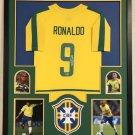 Ronaldo Autographed Signed Framed Brazil Jersey BECKETT