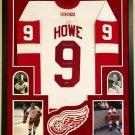Gordie Howe Autographed Signed Framed Detroit Red Wings Jersey JSA