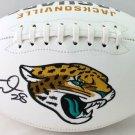 Fred Taylor Autographed Signed Jacksonville Jaguars Logo Football BECKETT