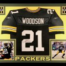 Charles Woodson Autographed Signed Framed Green Bay Packers Jersey JSA