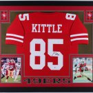 George Kittle Autographed Signed Framed San Francisco 49ers Jersey BECKETT