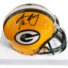 Aaron Rodgers Autographed Signed Green Bay Packers Mini Helmet GLOBAL