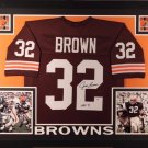 Jim Brown Autographed Signed Framed Cleveland Browns Jersey BECKETT