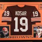 Bernie Kosar Autographed Signed Framed Cleveland Browns Jersey JSA