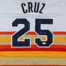 Jose Cruz Signed Autographed Houston Astros Jersey JSA