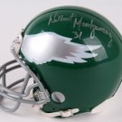 Wilbert Montgomery Autographed Signed Philadelphia Eagles Mini Helmet JSA