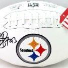 Troy Polamalu Autographed Signed Pittsburgh Steelers Logo Football BECKETT