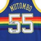 Dikembe Mutombo Signed Autographed Denver Nuggets M&N Jersey FANATICS