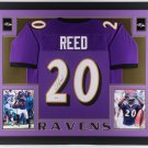 Ed Reed Autographed Signed Framed Baltimore Ravens Jersey BECKETT