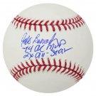Jeff Burroughs Braves Rangers Signed Autographed MLB Baseball SCHWARTZ