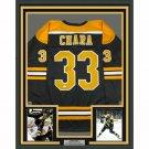 Zdeno Chara Autographed Signed Framed Boston Bruins Jersey JSA