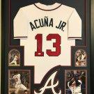 Ronald Acuna Jr Autographed Signed Framed Atlanta Braves Nike Jersey BECKETT