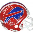 Kelly Reed & Thomas Autographed Signed Buffalo Bills Mini Helmet JSA
