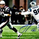 Julius Peppers Signed Autographed Carolina Panthers 8x10 Photo SCHWARTZ