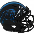Julius Peppers Signed Autographed Carolina Panthers Eclipse Black Mini Helmet SCHWARTZ