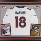 Peyton Manning Autographed Signed Framed Denver Broncos Jersey FANATICS