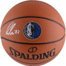 Luka Doncic Autographed Signed Dallas Mavericks Logo Basketball FANATICS