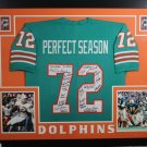 1972 Miami Dolphins Team (27 Signatures) Autographed Signed Framed Dolphins Jersey JSA