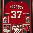 Stephen Strasburg Autographed Signed Framed Washington Nationals Jersey PSA