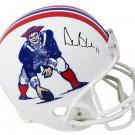 Drew Bledsoe Autographed Signed New England Patriots FS TK Helmet SCHWARTZ