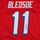 Drew Bledsoe Autographed Signed New England Patriots Jersey JSA