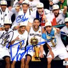 Tim Duncan Parker Leonard & Green Autograph Signed Spurs 8x10 Photo GLOBAL