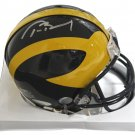 Tom Brady Autographed Signed Michigan Wolverines Mini Helmet TRISTAR