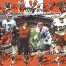 1980 Cleveland Browns Team (Sipe, Newsome +14) Autograph Signed 8x10 Photo GLOBAL