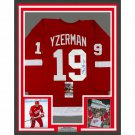 Steve Yzerman Autographed Signed Framed Detroit Red Wings Jersey JSA
