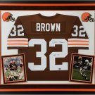 Jim Brown Autographed Signed Framed Cleveland Browns Jersey BECKETT