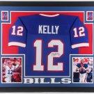 Jim Kelly Autographed Signed Framed Buffalo Bills Jersey JSA